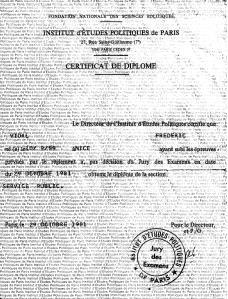 Diplôme de l'Institut d'études politiques de Paris